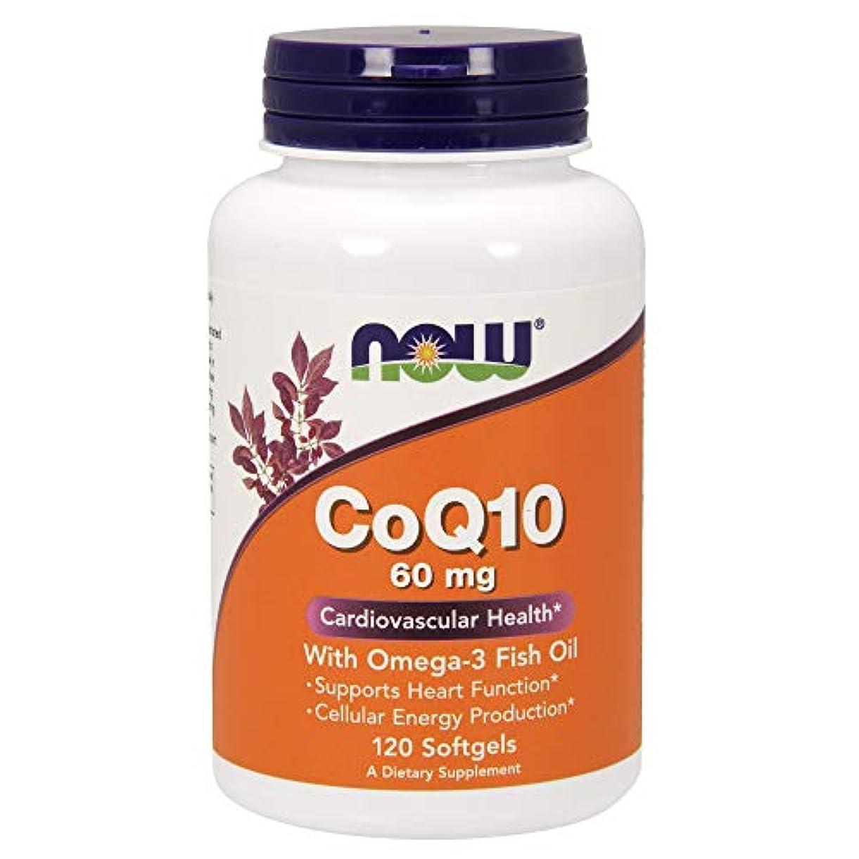 基礎理論日付ちょうつがい[海外直送品] ナウフーズ CoQ10?オメガ3魚油配合 120錠