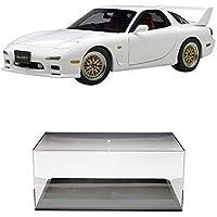 【セット商品】 AUTOart 1/18 マツダ アンフィニ RX-7 (FD3S) チューンド?バージョン (ピュアホワイト) + ディスプレイケース