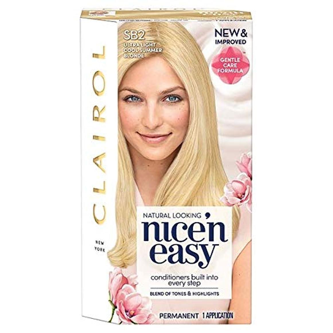または非効率的な略す[Nice'n Easy] クレイロール素敵な「N簡単超軽量夏ブロンドSb2の染毛剤 - Clairol Nice 'N Easy Ultra Light Summer Blonde Sb2 Hair Dye [並行輸入品]