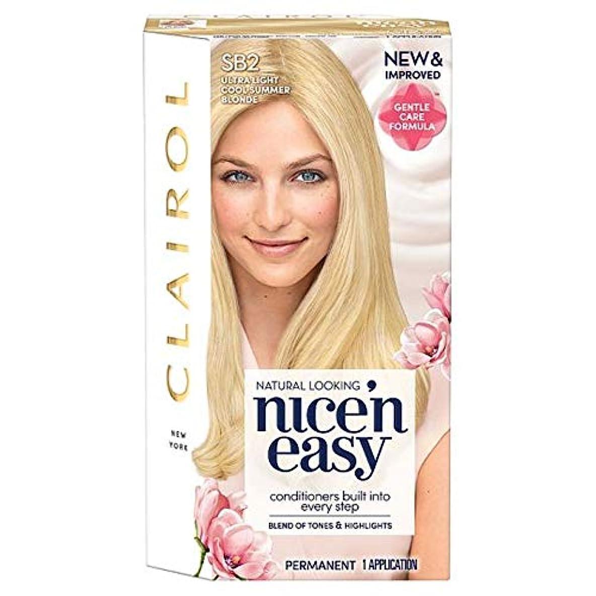 ビームくちばし森[Nice'n Easy] クレイロール素敵な「N簡単超軽量夏ブロンドSb2の染毛剤 - Clairol Nice 'N Easy Ultra Light Summer Blonde Sb2 Hair Dye [並行輸入品]