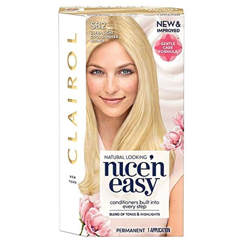 材料ことわざピック[Nice'n Easy] クレイロール素敵な「N簡単超軽量夏ブロンドSb2の染毛剤 - Clairol Nice 'N Easy Ultra Light Summer Blonde Sb2 Hair Dye [並行輸入品]