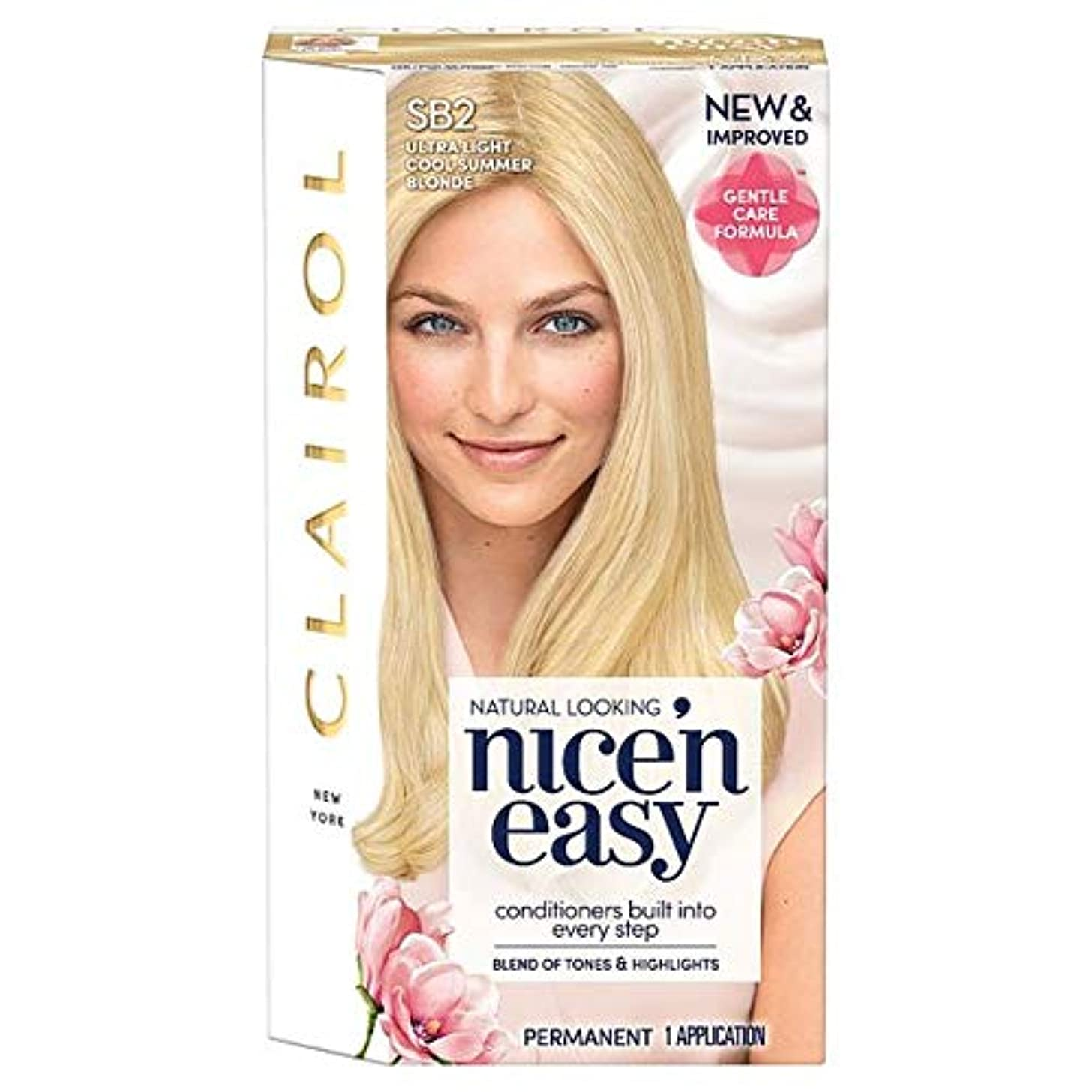 木人に関する限り寛容な[Nice'n Easy] クレイロール素敵な「N簡単超軽量夏ブロンドSb2の染毛剤 - Clairol Nice 'N Easy Ultra Light Summer Blonde Sb2 Hair Dye [並行輸入品]