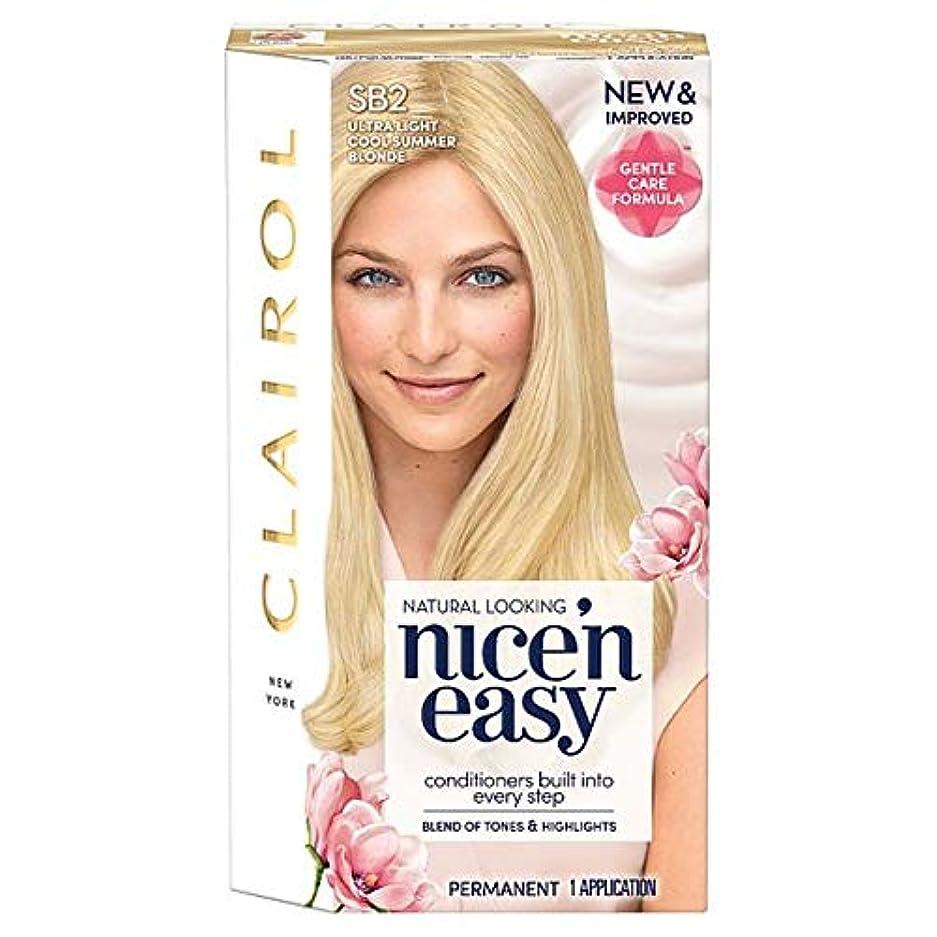 悩み翻訳する妥協[Nice'n Easy] クレイロール素敵な「N簡単超軽量夏ブロンドSb2の染毛剤 - Clairol Nice 'N Easy Ultra Light Summer Blonde Sb2 Hair Dye [並行輸入品]