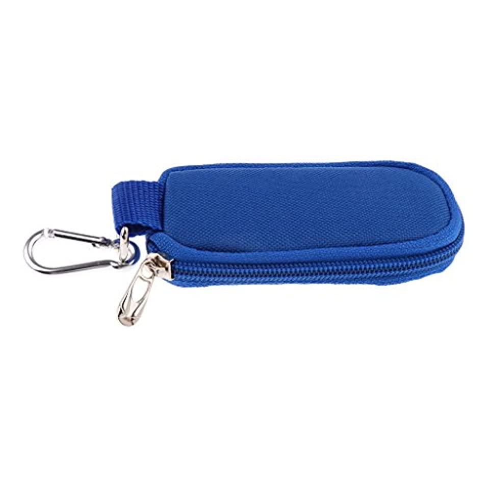 真実にかかわらず選択Perfk バイアル用 収納ケース オイル収納 オイルバッグ 化粧ポーチ キャリングバッグ オーガナイザー ホルダー オイル 3色選べる  - 青