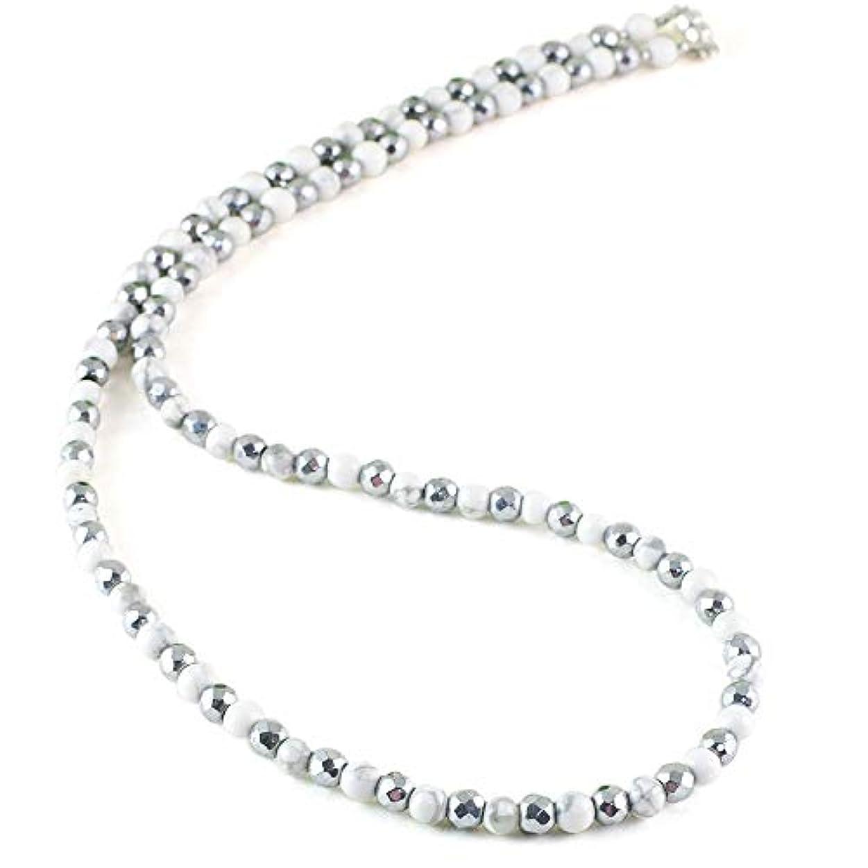 立法心理的に賢明な[ロノティコ]Ronotico ハウライト 天然石 磁気ネックレス Silver925マグネットクラスプ おしゃれ 女性 男性 ユニセックス 日本製 jnk-33