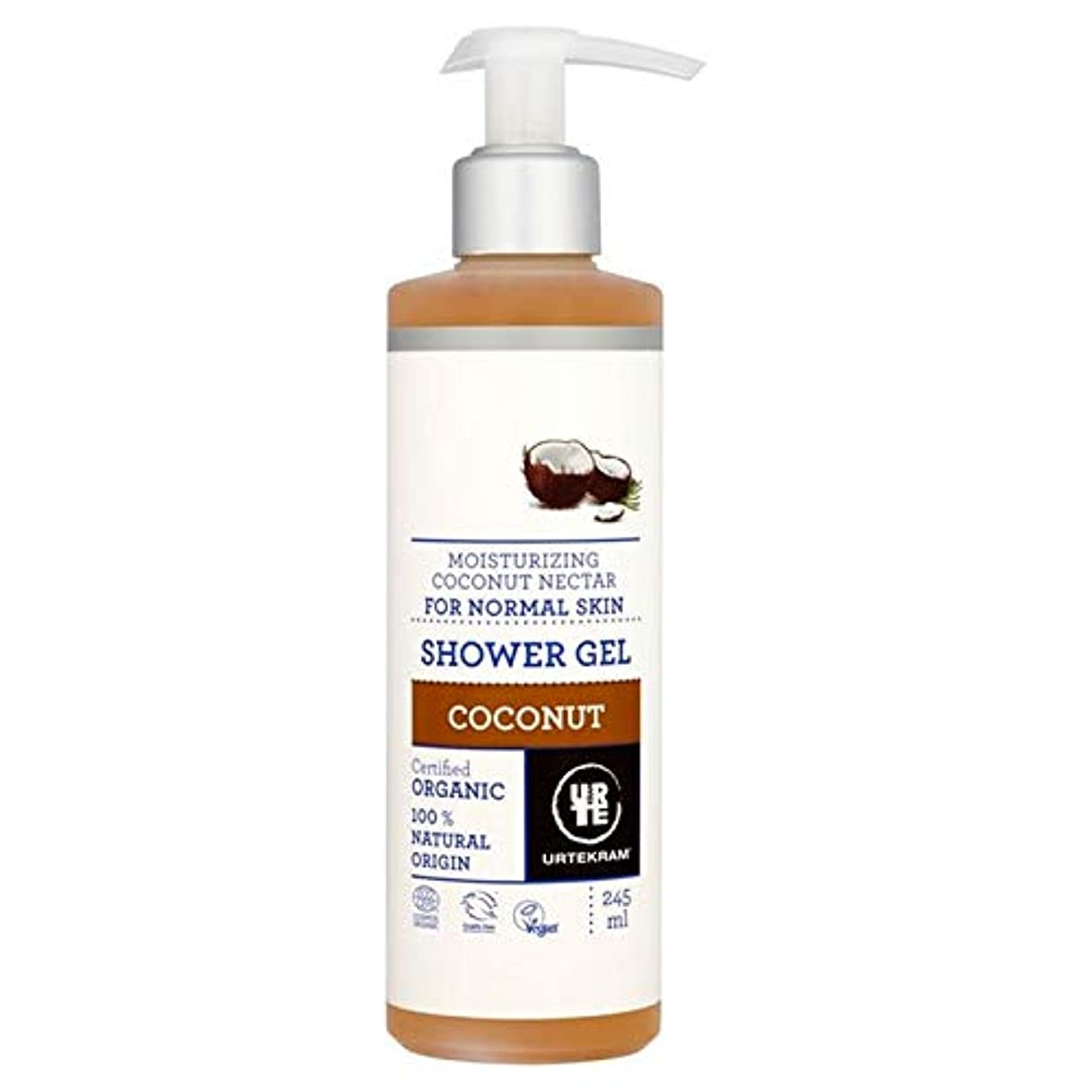 破滅専門知識バイナリ[Urtekram] Urtekramココナッツポンプシャワージェル245ミリリットル - Urtekram Coconut Pump Shower Gel 245ml [並行輸入品]