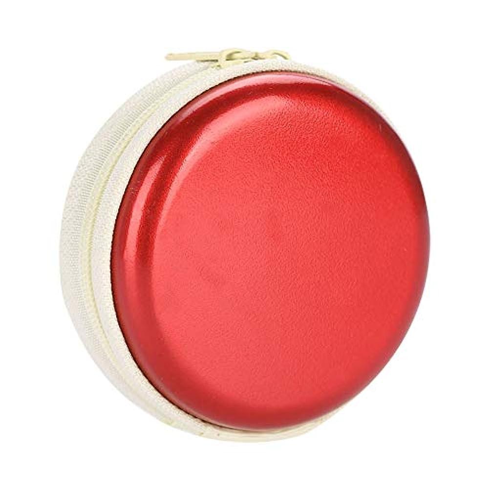応答権限を与える蓮エッセンシャルオイルキャリングケーストラベルキャリアコンテナコンパクト&ポータブルオイルバッグ保護外装ハードシェル付き外装ストレージ(Red)