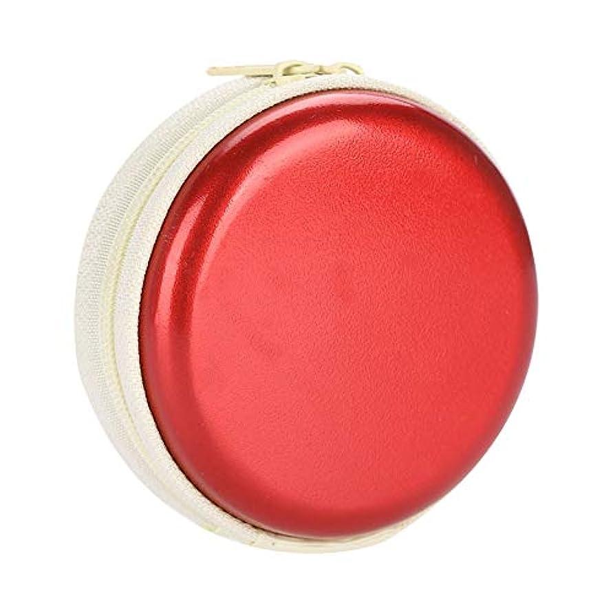 叫ぶ市町村高度なエッセンシャルオイルキャリングケーストラベルキャリアコンテナコンパクト&ポータブルオイルバッグ保護外装ハードシェル付き外装ストレージ(Red)