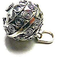 [Silver925]RainbowSpirit王冠crown模様のガムランボール:ジャワンタイプ(18mm)