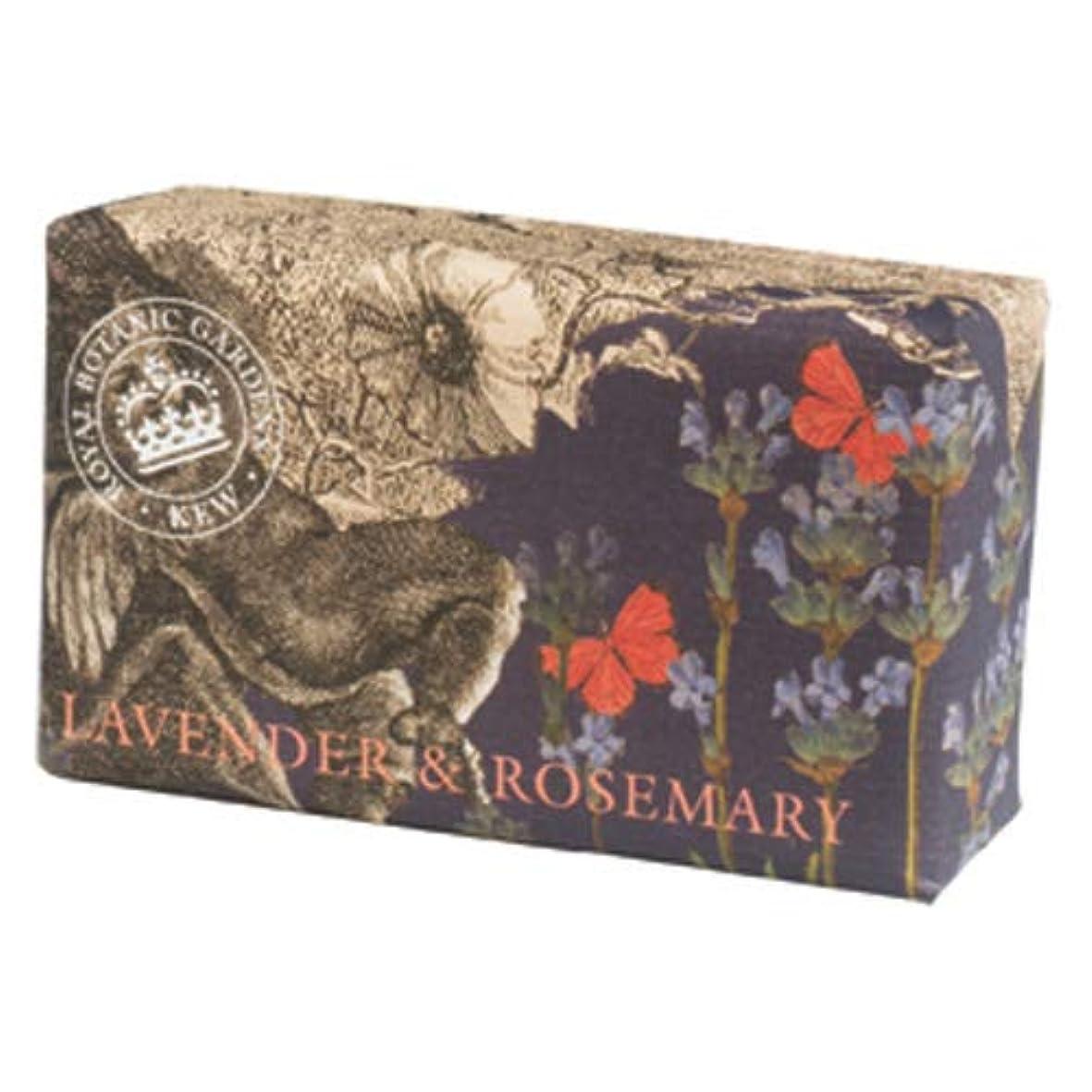 指紋いたずらな徴収English Soap Company イングリッシュソープカンパニー KEW GARDEN キュー?ガーデン Luxury Shea Soaps シアソープ Lavender & Rosemary ラベンダー&ローズマリー