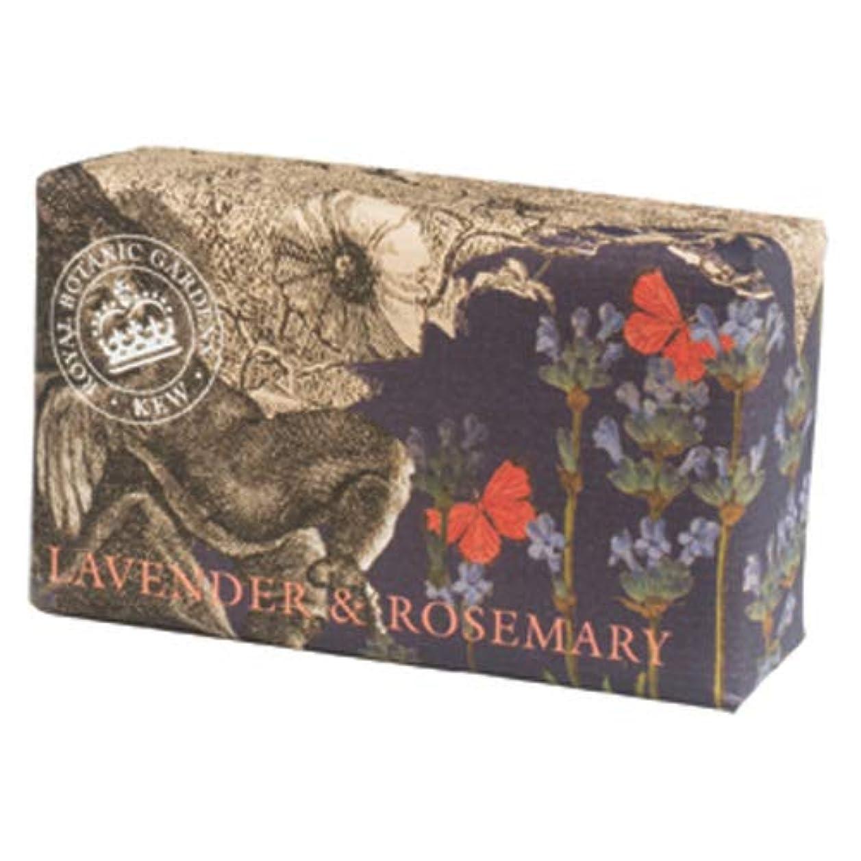 伝統上へ暴行English Soap Company イングリッシュソープカンパニー KEW GARDEN キュー?ガーデン Luxury Shea Soaps シアソープ Lavender & Rosemary ラベンダー&ローズマリー
