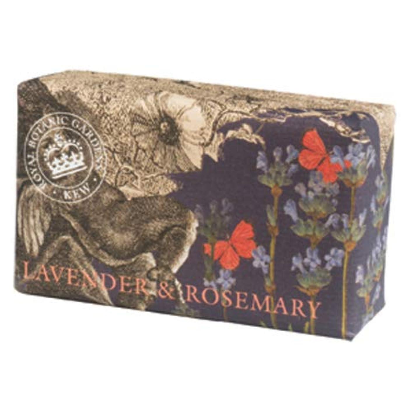 手書きシルク固執English Soap Company イングリッシュソープカンパニー KEW GARDEN キュー?ガーデン Luxury Shea Soaps シアソープ Lavender & Rosemary ラベンダー&ローズマリー