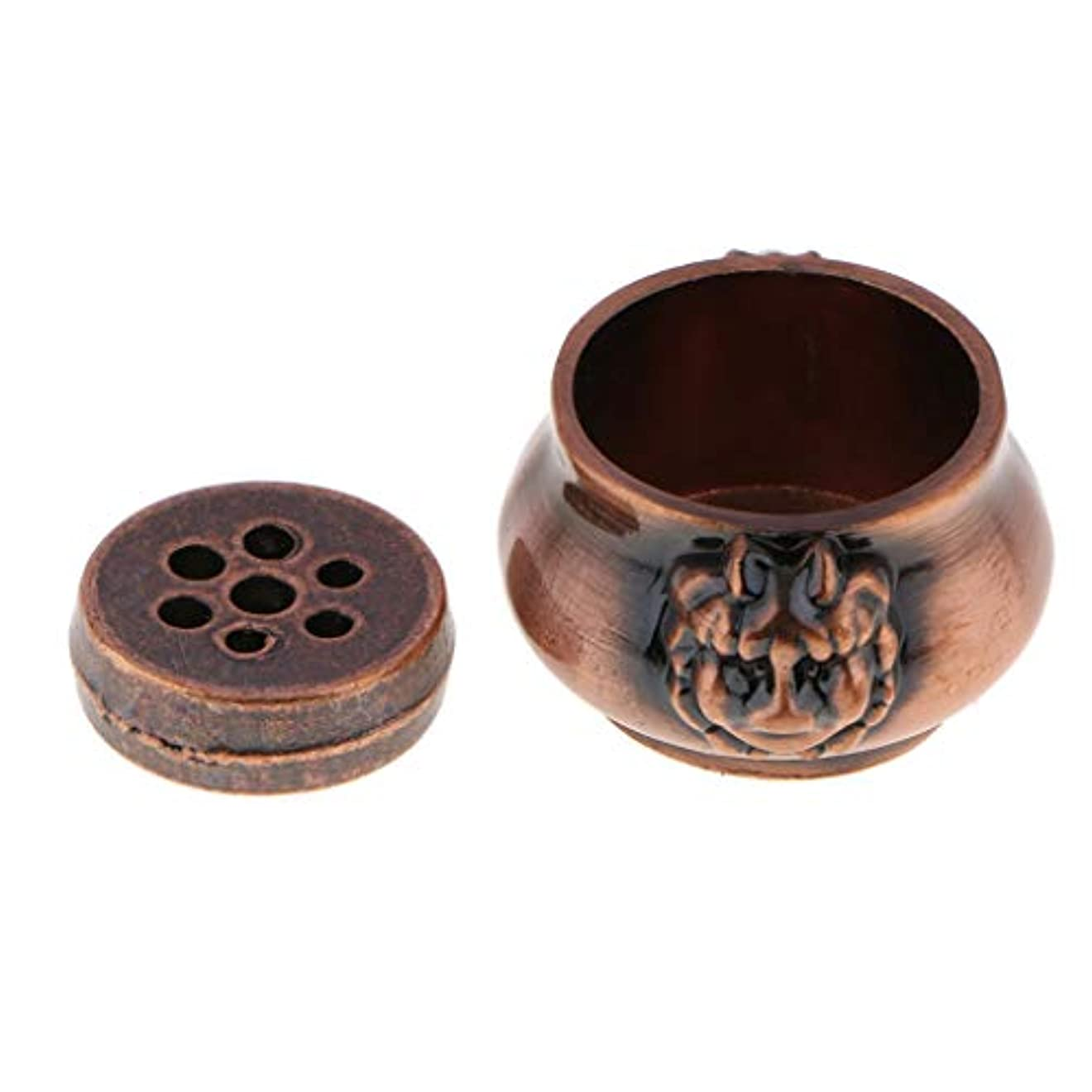 一般化する気まぐれなトロリーjoyMerit 香炉 アンティーク 合金 バーナー お香ベース - 銅, S