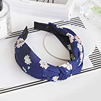 AKDSteel Women Girls Headband Top Knot Turban Headband Cross Bandage Scarf Hair Accessories 5#