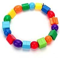 usatddジャンボ文字列ビーズと36ビーズ、4文字列& Lacing Beads Set for Toddlers作業療法FineモータースキルToys自閉症ot