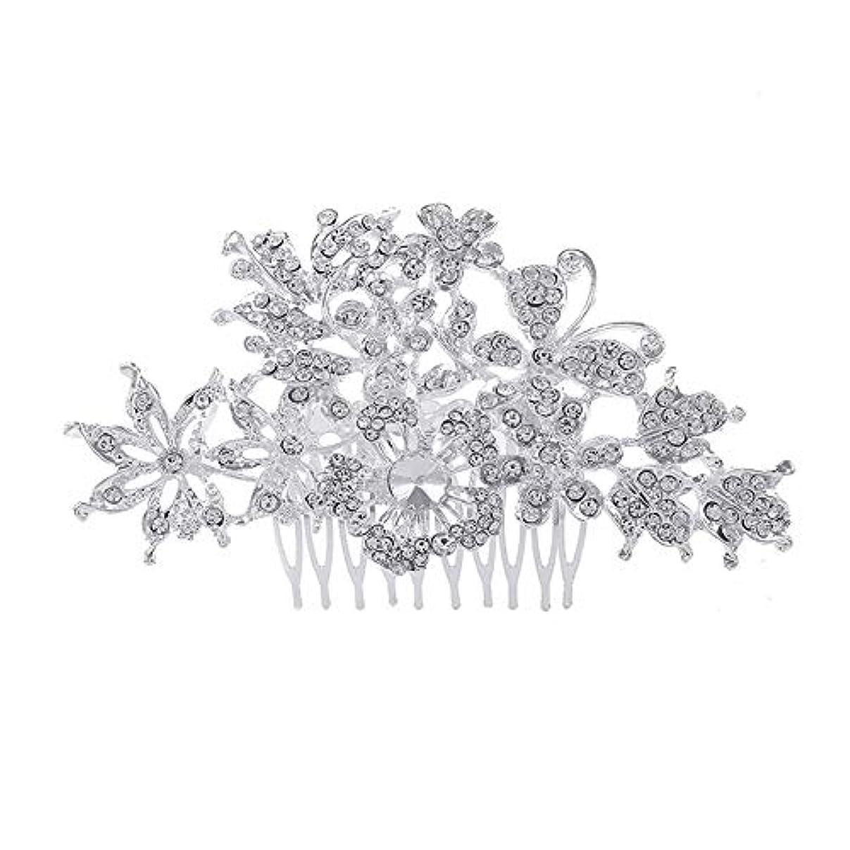 支出プロフィール磁器髪の櫛、櫛、花嫁の髪の櫛、亜鉛合金、結婚式のアクセサリー、髪の櫛、髪のアクセサリー、髪の櫛、ラインストーンの櫛