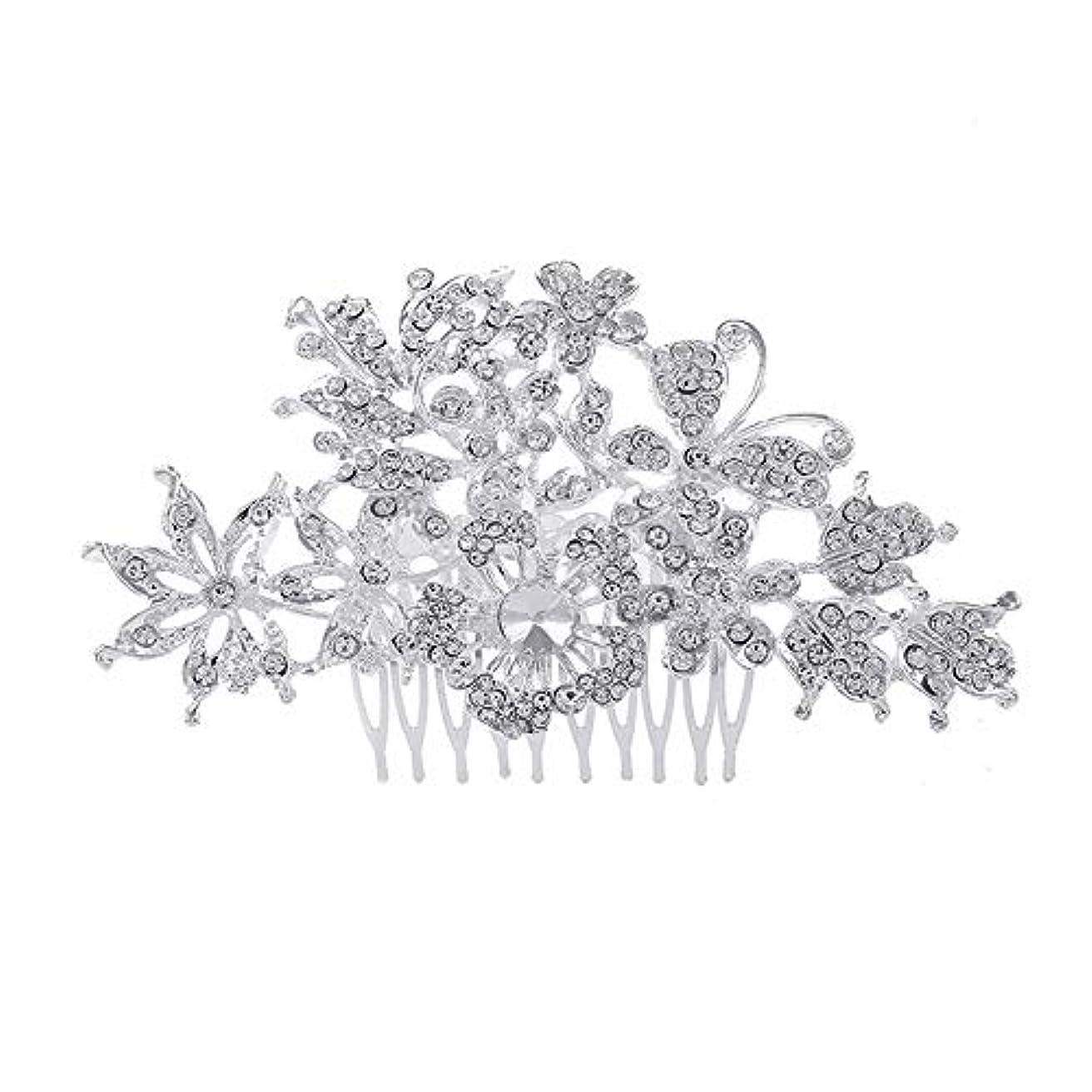 襟厳密ににおい髪の櫛、櫛、花嫁の髪の櫛、亜鉛合金、結婚式のアクセサリー、髪の櫛、髪のアクセサリー、髪の櫛、ラインストーンの櫛