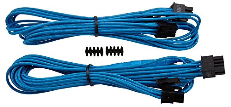 きつく種再生的Corsair Premium Individually Sleeved PCIe Cables with Single Connector BLUE PS720 CP-8920173