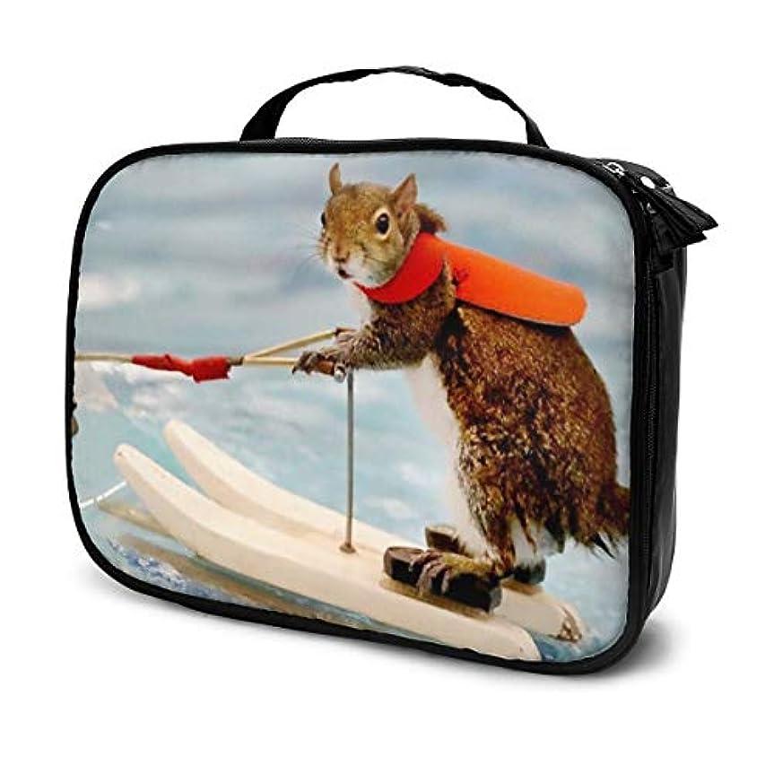 長いですあなたが良くなります欺リス Surf Squirrel 化粧ポーチ 化粧ケース メイクアップケース コスメポーチ メイクポーチ 機能的 大容量 乾式/湿式分離 吊り下げ 防水 収納力抜群 海外旅行 出張 軽量 メイク コスメ 普段使い 持ち運び おしゃれ メンズ レディース 男女兼用