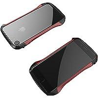 工具不要で取付可能! iPhone7/iPhone7 Plusケース アルミバンパー ケース 炭素繊維 耐衝撃 金属フレーム 超軽量 薄型 全6色 (iPhone7 Plus, レッド)