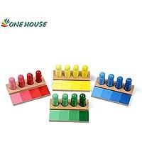 OneHouse 赤ちゃん用木製おもちゃ モンテッソーリ 色分け作業 早期教育 子供の幼児 家族バージョン