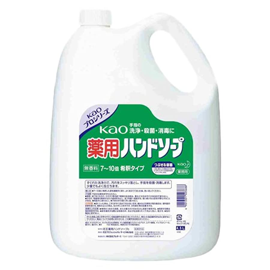 マーチャンダイジング病な脱走Kao 薬用ハンドソープ 4.5L×3個
