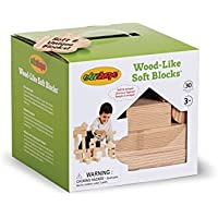 Edushape Wood-Like Soft Blocks 30 Piece [並行輸入品]
