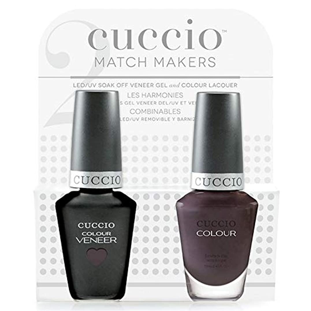 特許ロケーション硫黄Cuccio MatchMakers Veneer & Lacquer - Pulp Fiction - 0.43oz / 13ml Each