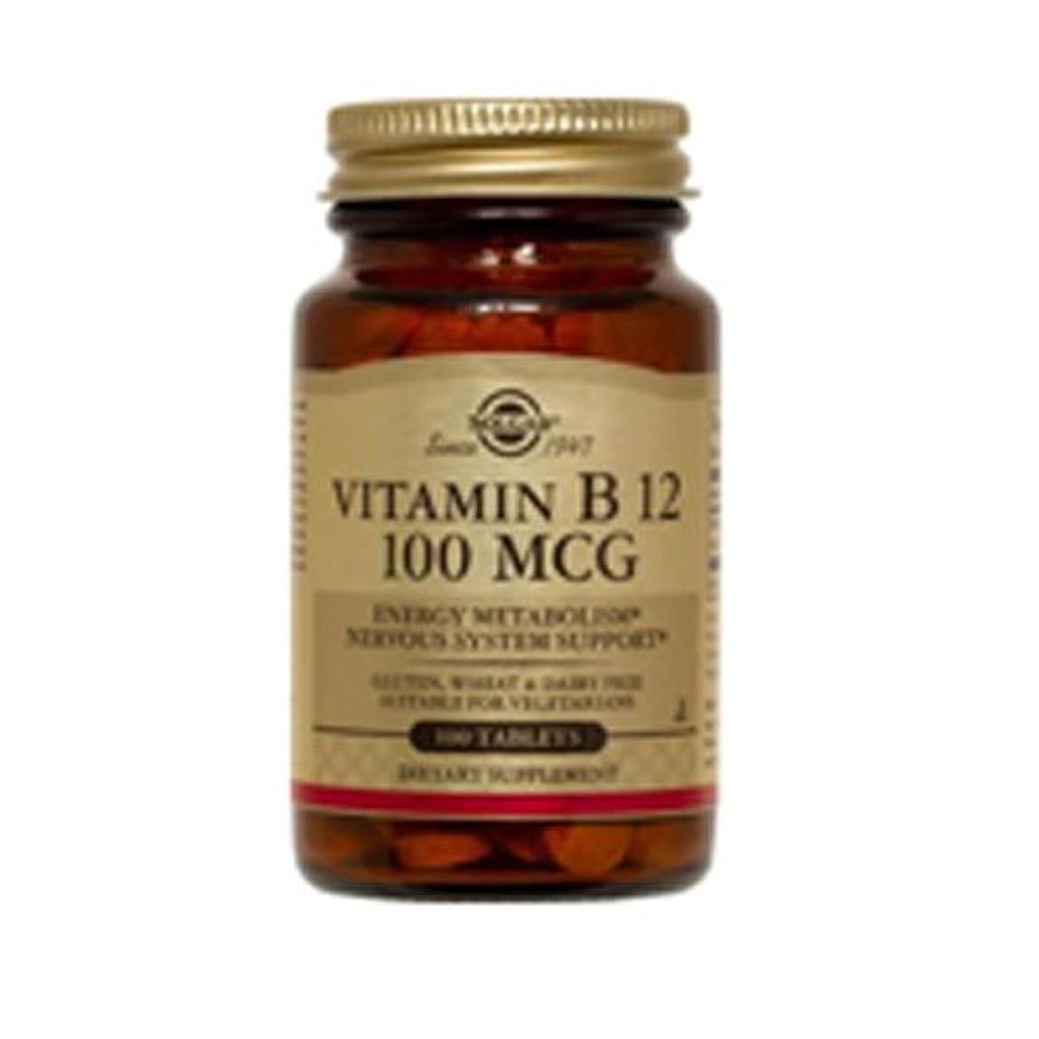 雰囲気いらいらさせるスピーカーSolgar - ビタミン B12 100 mcg。100錠剤