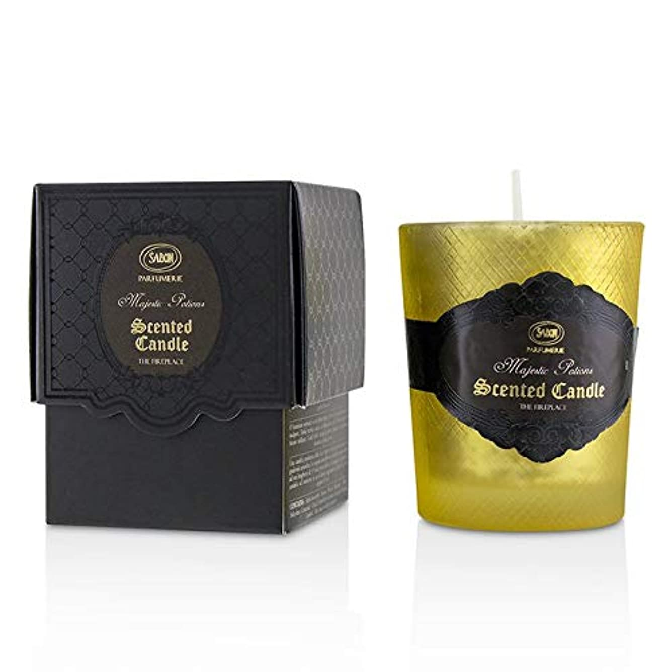 落胆した独裁者矩形サボン Luxury Glass Candle - Fireplace -並行輸入品