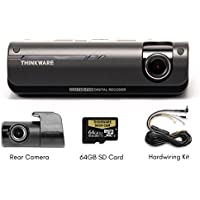 Thinkware F770 64GB 1080P HD WiFi Dash Cam plus RearView Camera plus Extra Power Harness (Bundle: 3 items) by Thinkware