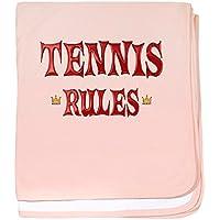 CafePress – テニスルール – スーパーソフトベビー毛布、新生児おくるみ ピンク 05590413706832E