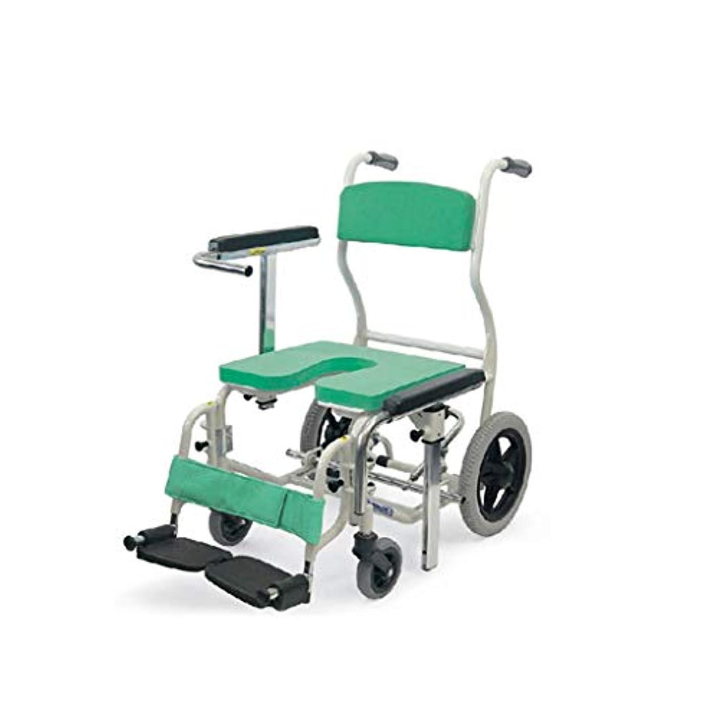 アルファベット順練習した仕出しますシャワースツール 調節可能な高さのアームレストが付いている年配の滑り止めのアルミ合金の浴室の椅子の入浴車椅子 HL189