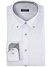[アオキ] 【ノーアイロンストレッチシャツ】 アイロン不要 動きやすいスリムストレッチ ボタンダウン 選べるカラーバリエーション【白/ブルー/グレー/パープル】
