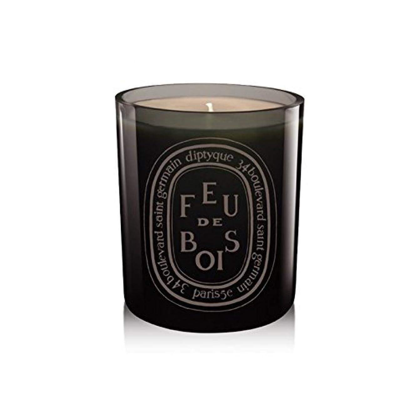 ダメージエーカー農奴Diptyque Coloured Candle Feu De Bois