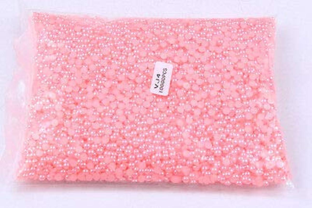 ストレスお収益FidgetGear 10000個/パックピンクネイルアートハーフパール3Dラインストーンネイルチップデコレーション 4mm