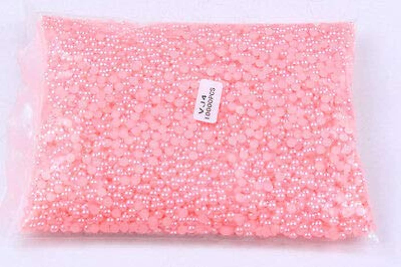 反抗娯楽安価なFidgetGear 10000個/パックピンクネイルアートハーフパール3Dラインストーンネイルチップデコレーション 4mm