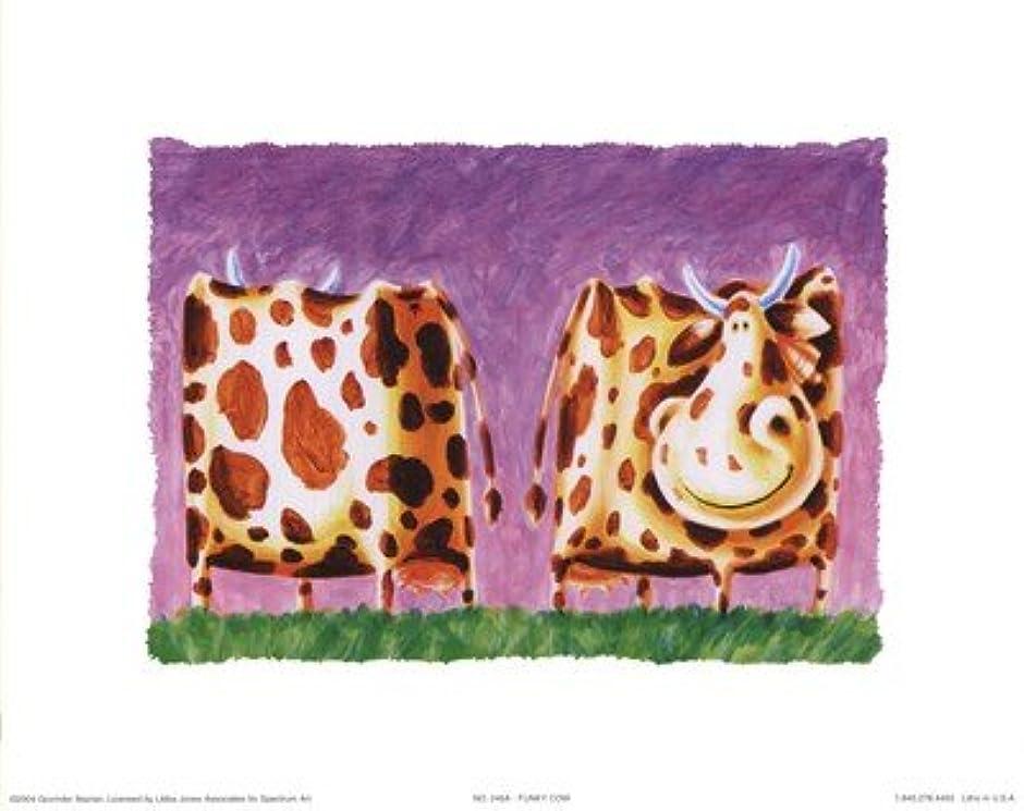 ビヨン懇願する著作権ファンキーCow by Govinder Nazran – 10 x 8インチ – アートプリントポスター LE_256122
