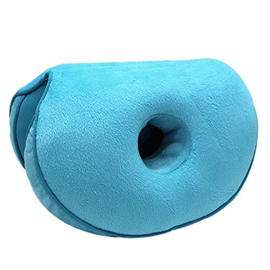 氷変なノベルティLIFE ダブル快適クッションぬいぐるみリフトヒップアップシートクッション折りたたみ枕保存することができる圧力リリーフでは、車、ホーム、オフィス クッション 椅子