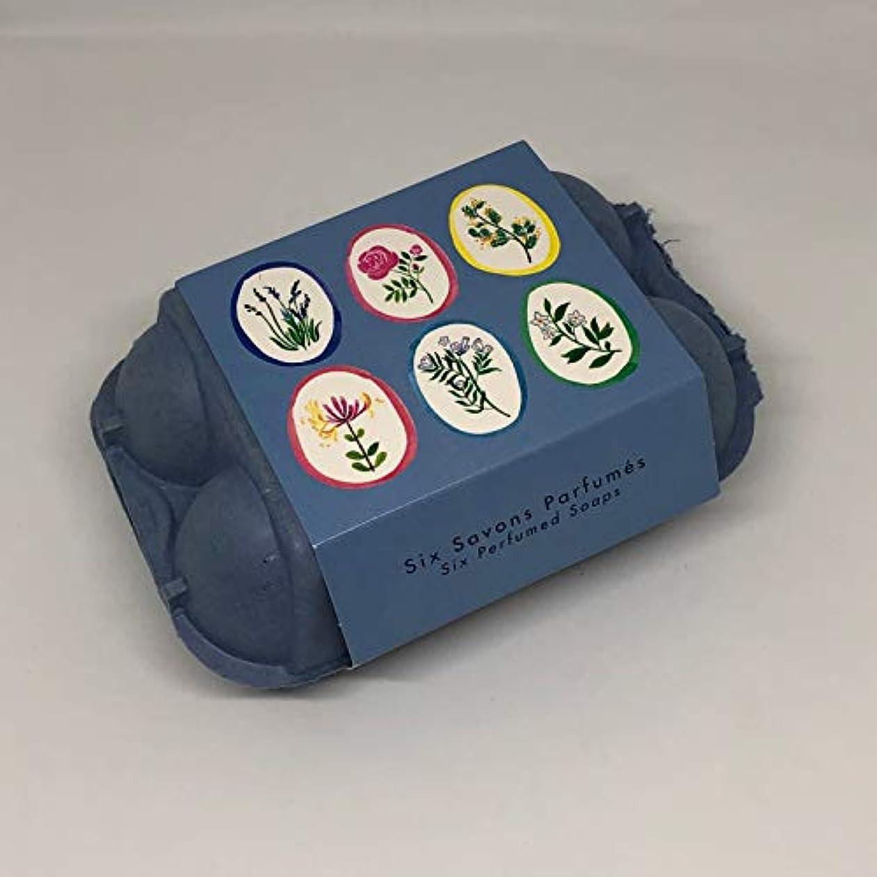 なしでうねるビュッフェフラゴナール Fragonard 卵型ソープセット 50g×6個 フランス直輸入 BLUE