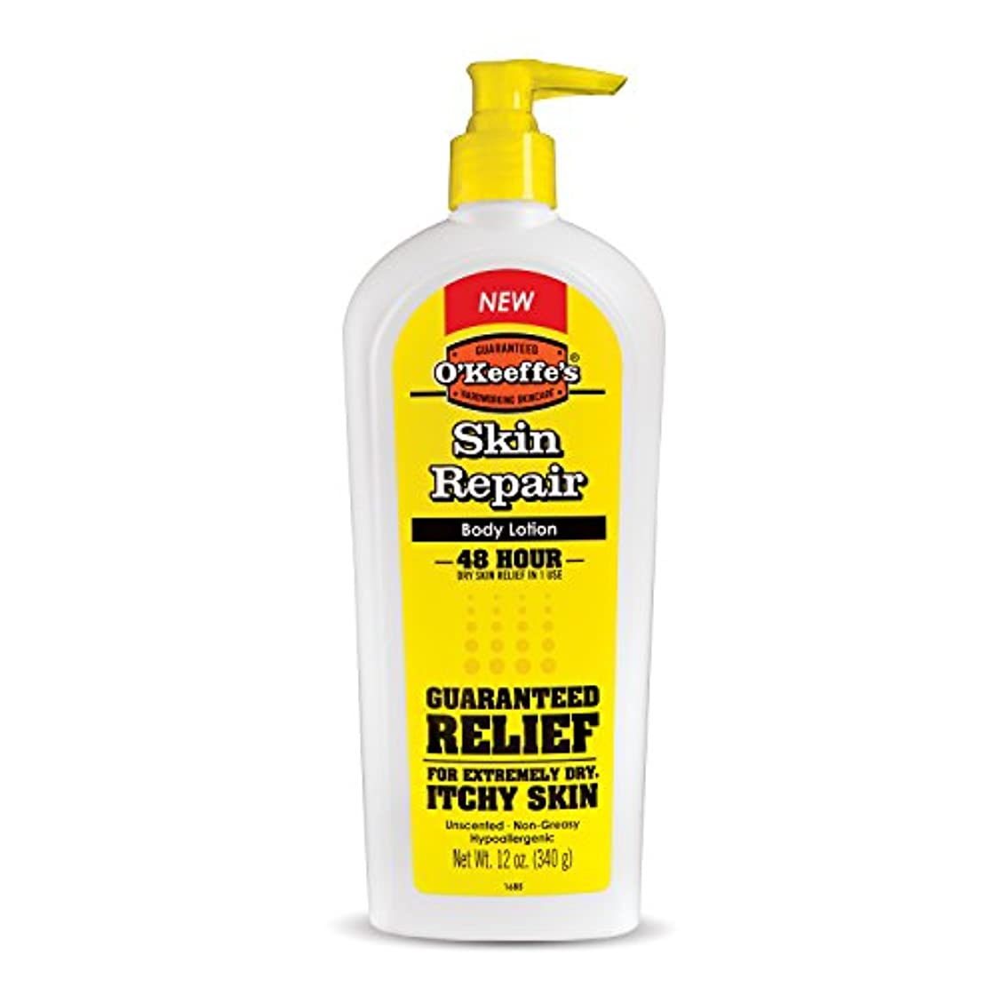 鮮やかなキネマティクスゴールひどい乾燥?ひび割れに オキーフスキン リペアボディローション&ドライスキンモイスチャライザー ポンプボトル 12オンス 海外直送品