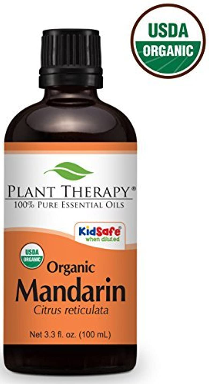 反毒硫黄応用Mandarin ORGANIC Essential Oil. 100 ml. 100% Pure, Undiluted, Therapeutic Grade.