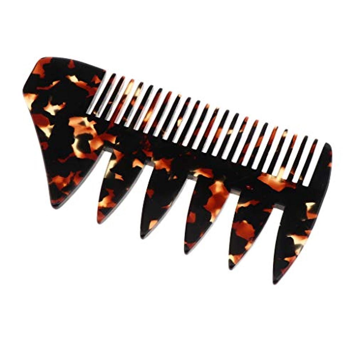 T TOOYFUL 全4色選択 ヘアコーム ヘアブラシ 頭皮マッサージ 広い歯 木製櫛 帯電防止 - 黒