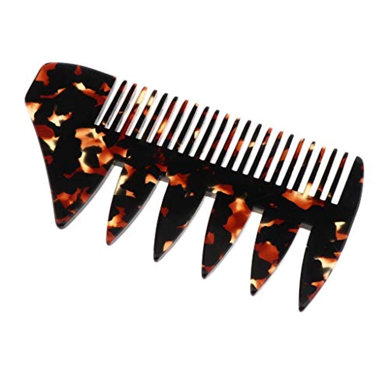 内なる狼キッチン全4色選択 ヘアコーム ヘアブラシ 頭皮マッサージ 広い歯 木製櫛 帯電防止 - 黒