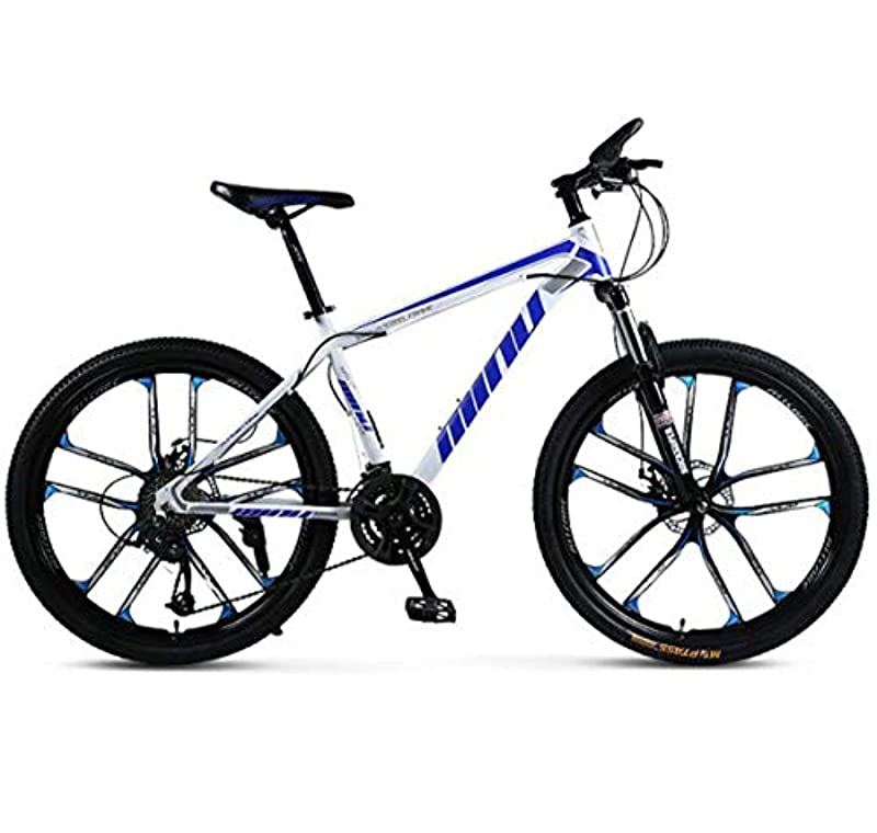 グラフィック軍艦フラフープ男性と女性のためのダブルディスクブレーキスピード調節可能な自転車U型フロントフォークショック滑り止めの自転車と27スピードマウンテンバイク26インチ自転車のオフロードバイク