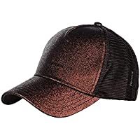 TOP HEADWEAR Glitter Pony Tail Outlet Mesh Adjustable Hat