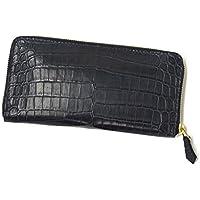 【ご予約 納期2ヶ月】CISEI【チセイ/シセイ】CROCODILE zip wallet (クロコダイル ジップウォレット)(BLACK)