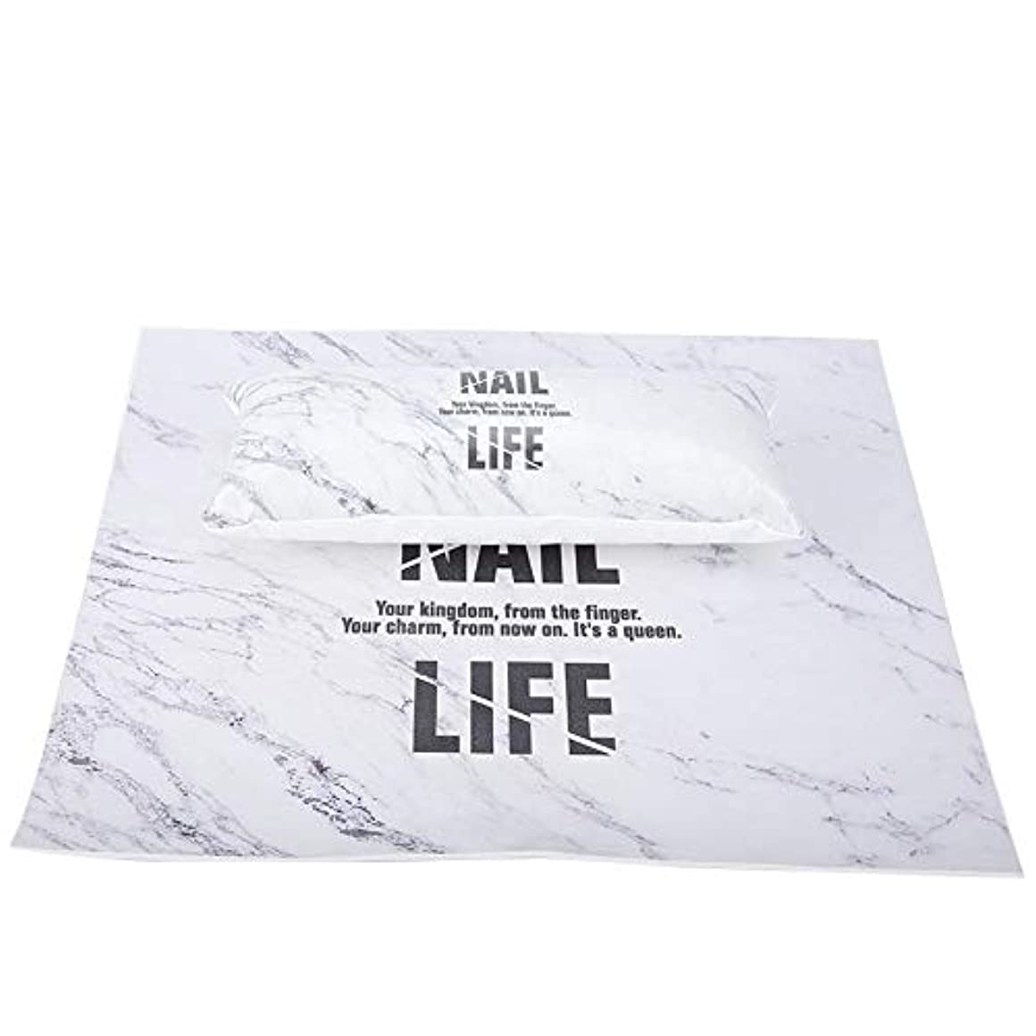 ネブ解体する重くする洗えるマニキュアテーブルマット、ネイルアートハンドピロー(大理石)