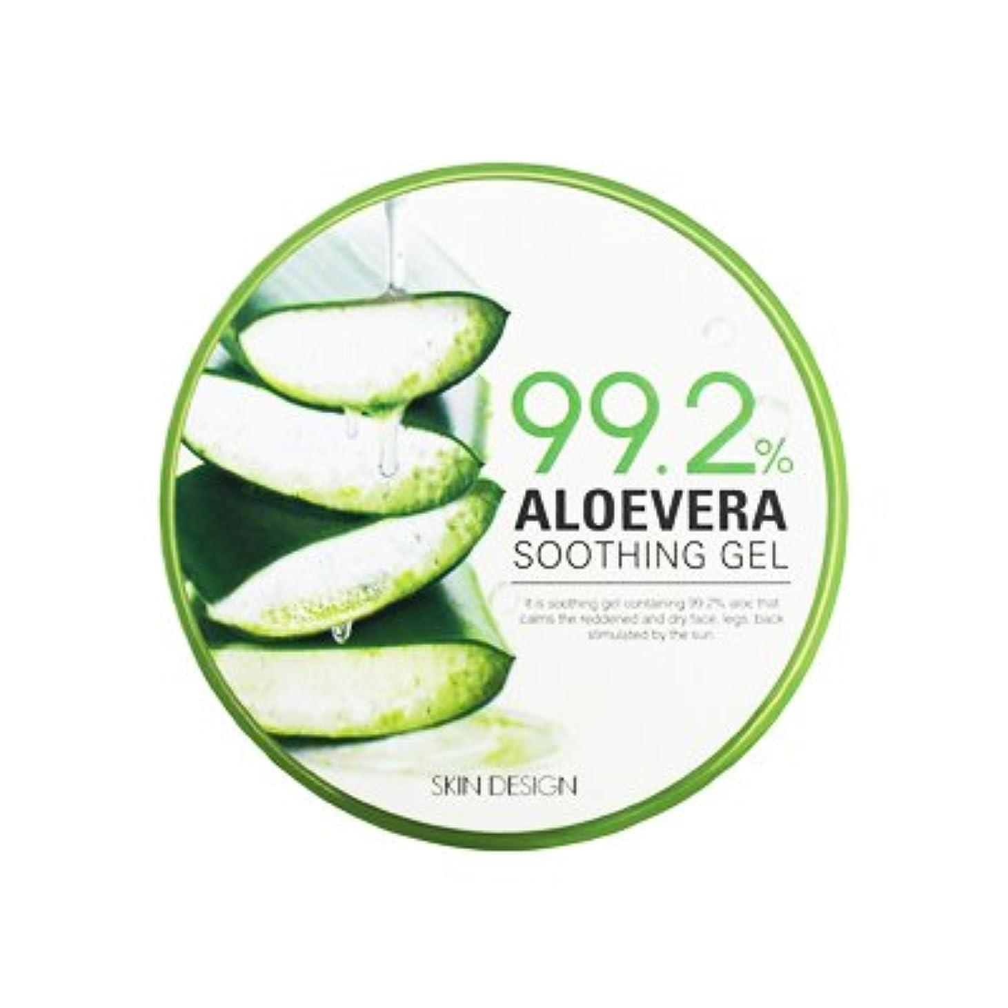 充電保育園百年【SKIN DESIGN】アロエベラ スージング ジェル99.2% 「300ml」 / ALOEVERA SOOTHING GEL99.2%