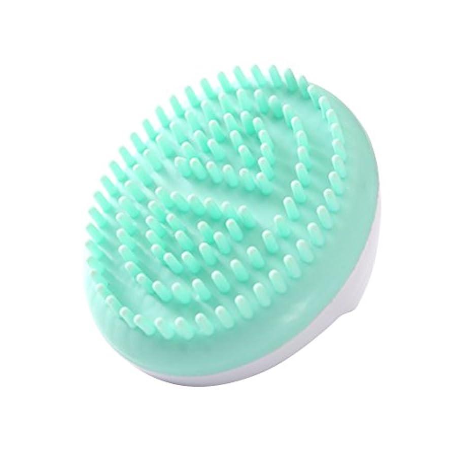 スポーツ同情ピッチLURROSE セルライトマッサージブラシ手持ち風呂ブラシ抗セルライト痩身美容マッサージブラシ(グリーン)